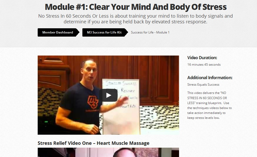 success for life kit video pg pic1 Mind Muscle Memory Success For Life Kit