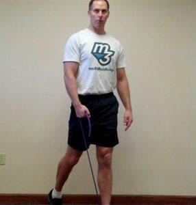 Miles Beccia Band Single Leg Squat