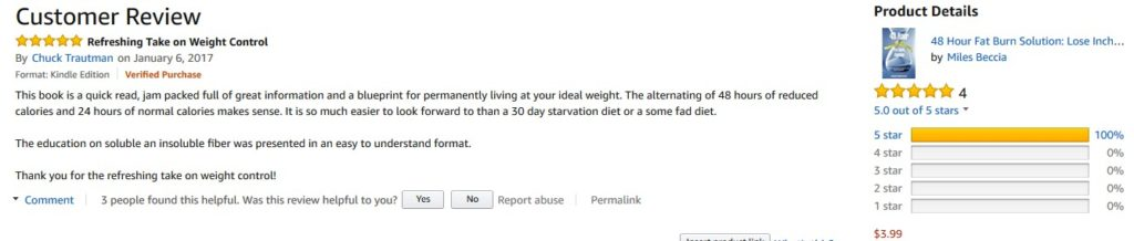 48 hour fat burn solution 5 star review chuck t Reviews