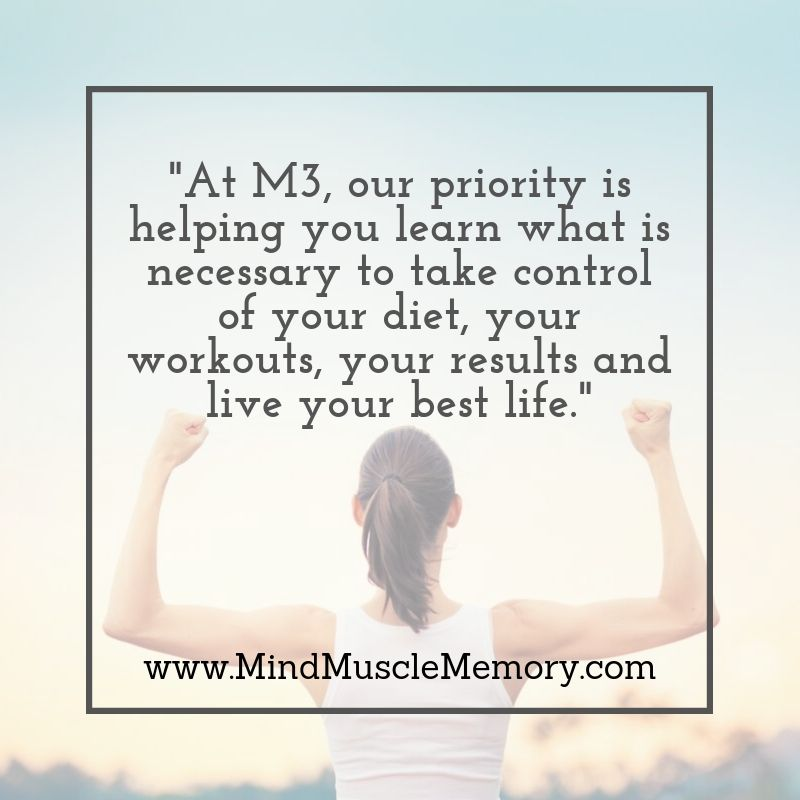 M3 helps you learn what is necessary to take control of your diet