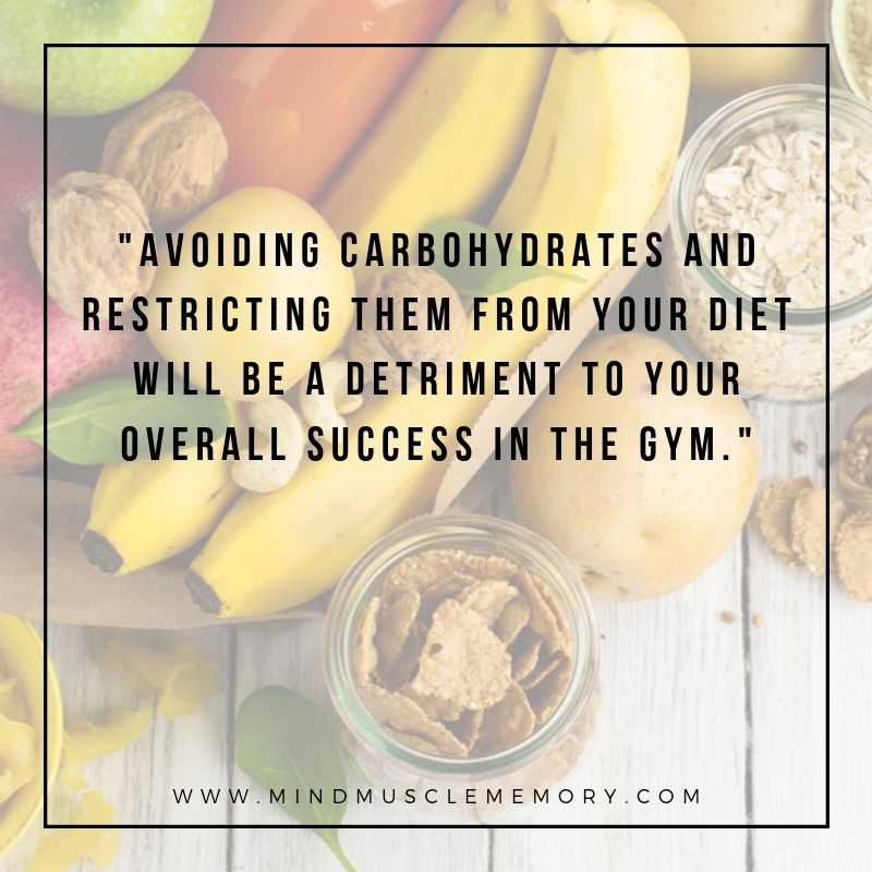 Avoiding carbohydrates and restricting them from your diet will be a detriment to your overall success in the gym. The Top 3 Reasons Carbohydrates are  Essential to Your Success in the Gym