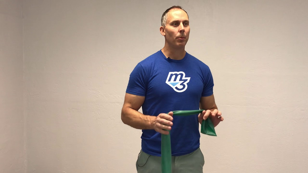 Improve your triceps muscle memory pattern with exercise band
