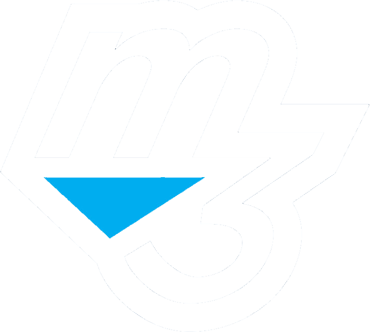 m3 website white logo