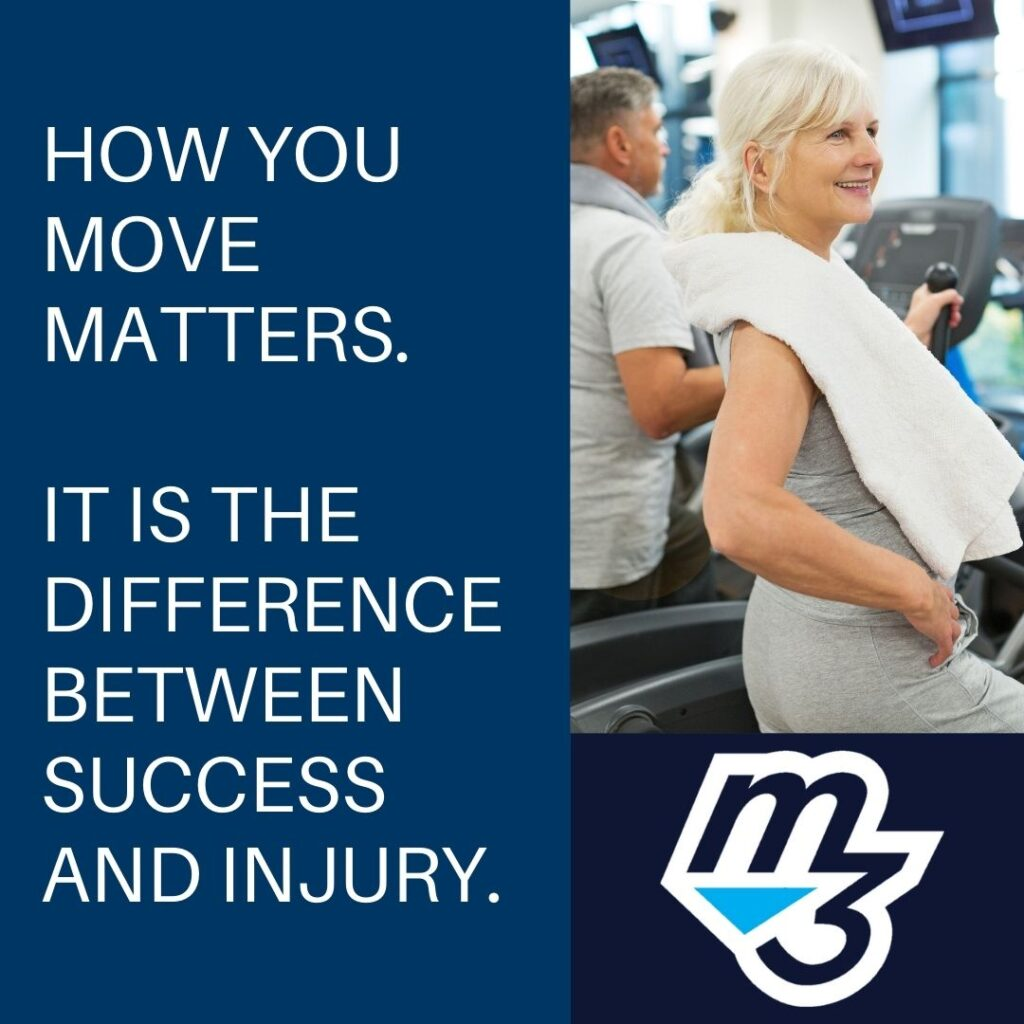 How you move in the gym  matters. It is the difference between success and injury.
