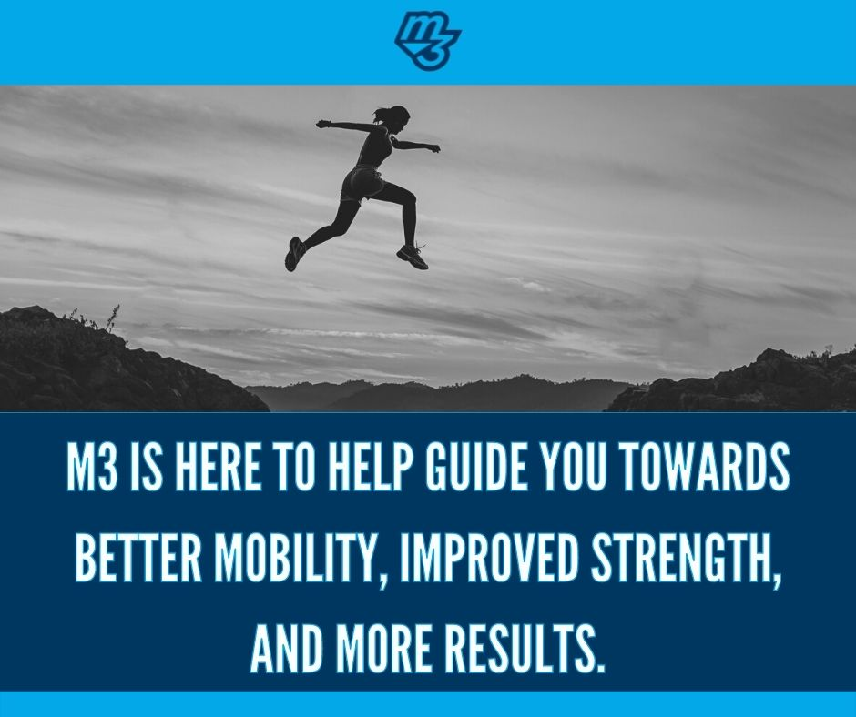 M3 is here to help guide you towards better mobility, improved strength, and more results.