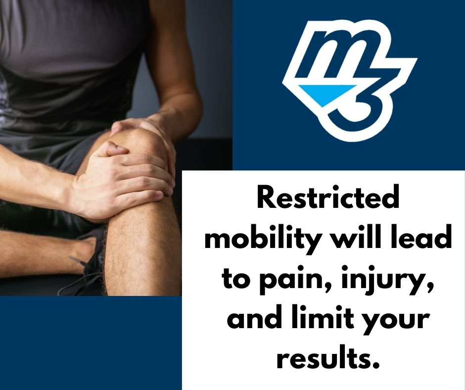 Restricted mobility will lead to pain, injury, and limit your results.